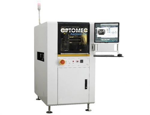 Optomec: Dispense Industry's First High Density Electronics Packaging 20-Micron Resolution Printer